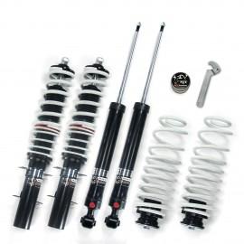 Kit combinés filetés eXtrem réglable en dureté Volkswagen Golf 4 Bora New Beetle, Audi A3 8L, Seat leon 1M