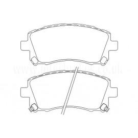 Plaquettes avants Mintex Subaru Impreza Forester Legacy