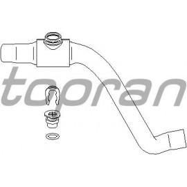 Durite eau radiateur supérieur - flasque d'eau