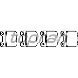 Plaquettes arrières Opel Vectra B 2.2l dti