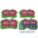 Jeu de plaquettes de freins arrière EBC Vertes pour Golf 2, 3,Scirocco, Corrado