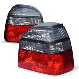 Feux arrière, VW Golf 3 91-97, rouge/fumé