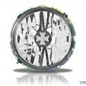 Phares avant VW Golf 1 H4 design Iron Cross verre lisse/fond chrome