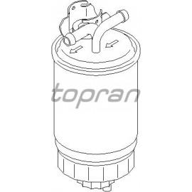 Filtre à gazoil pour Golf 1/2/3, Polo 2/3 et Transporter D, TD et TDi