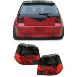 Feux arrière Golf 4 rouge / noir