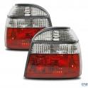 Feux arrière, VW Golf 3 91-97, rouge/clair
