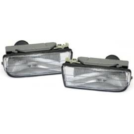 Feux anti-brouillard BMW E36, verre lisse/fond chrome BMW E36