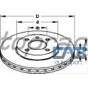 2 disques avants Golf 2 / 3 239 mm ventilés