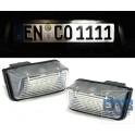 Eclairage de plaque à led 6000K Peugeot 206 207 306 307 407 5008