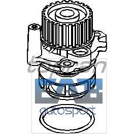 Pompe à eau VAG moteur 1.8l turbo 20vt