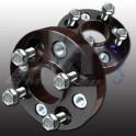 Paire élargisseurs de voie double boulonnerie PSA 5x108 65,1mm