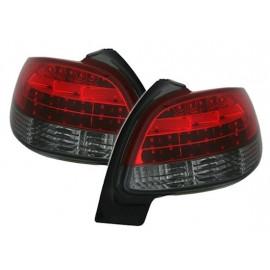 Feux arrière a led rouge et noir Peugeot 206