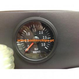 Manomètre pression de suralimentation 3 bars fond noir