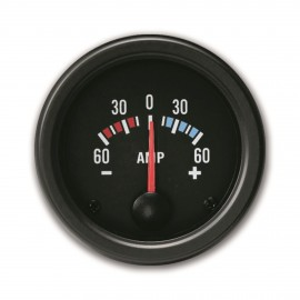 Manomètre ampèremètre 60A fond noir