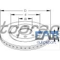 2 disques de frein avant ventilés 247x20.5mm Peugeot Citroen