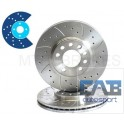Disques rainurés percés avants Subaru 277 x 24 mm